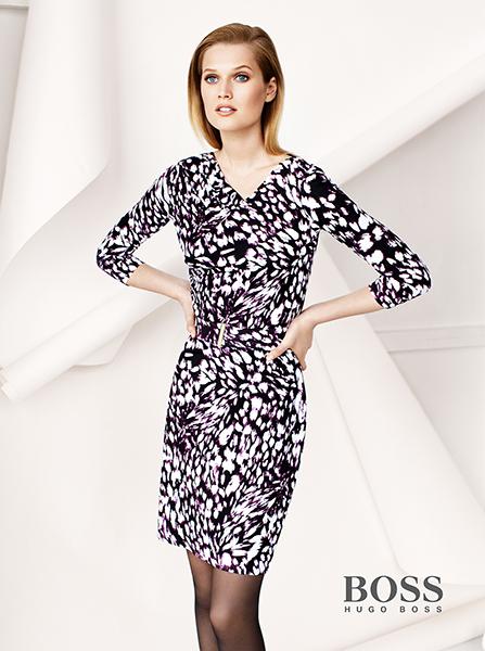 campagne BOSS Winter 2013  avec la collection Femme et le mannequin Toni Garrn