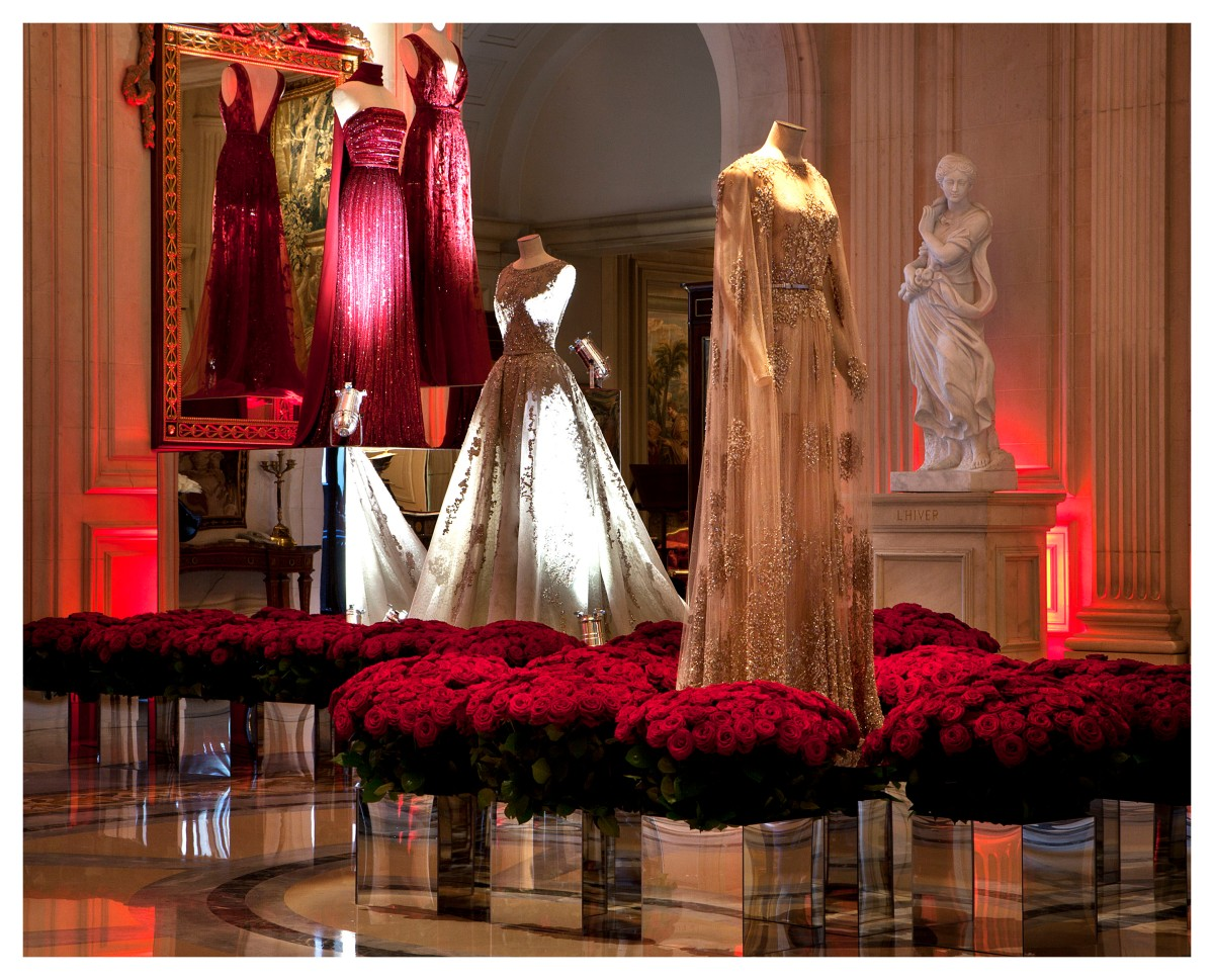 Exposition ELIE SAAB au FOUR SEASONS HOTEL GEORGE V PARIS