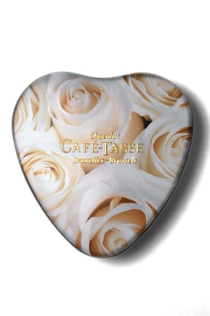ROSES BLANCHES - Coeur de Praline - Café Tasse