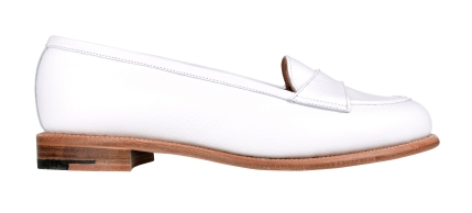 Best of British - White Leather Loafer