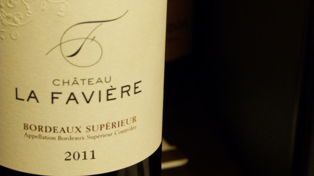 Château La Favière 2011 - Bordeaux Supérieur