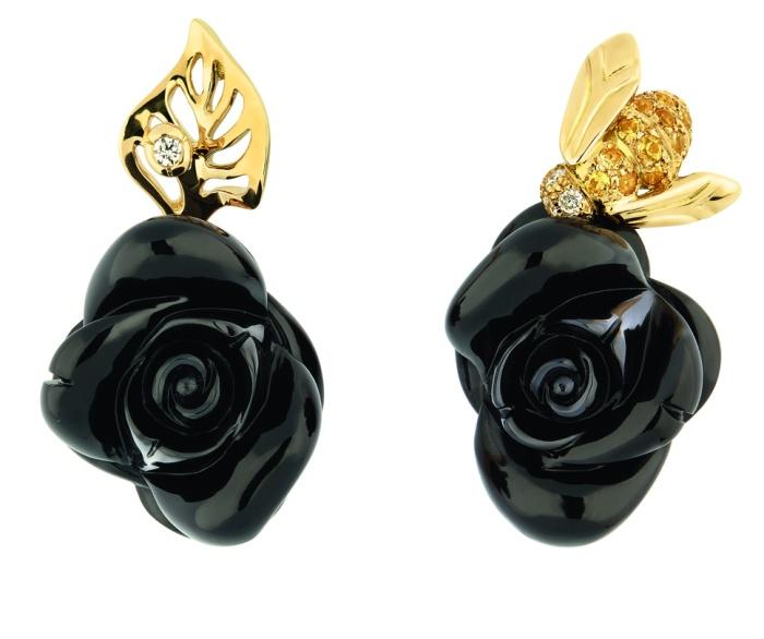 ROSE DIOR PRE CATELAN ONYX - Boucles d'oreilles
