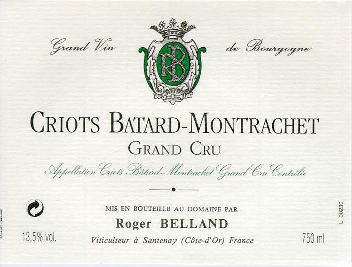 Criots Batard-Montrachet Grand Cru - Domaine Belland
