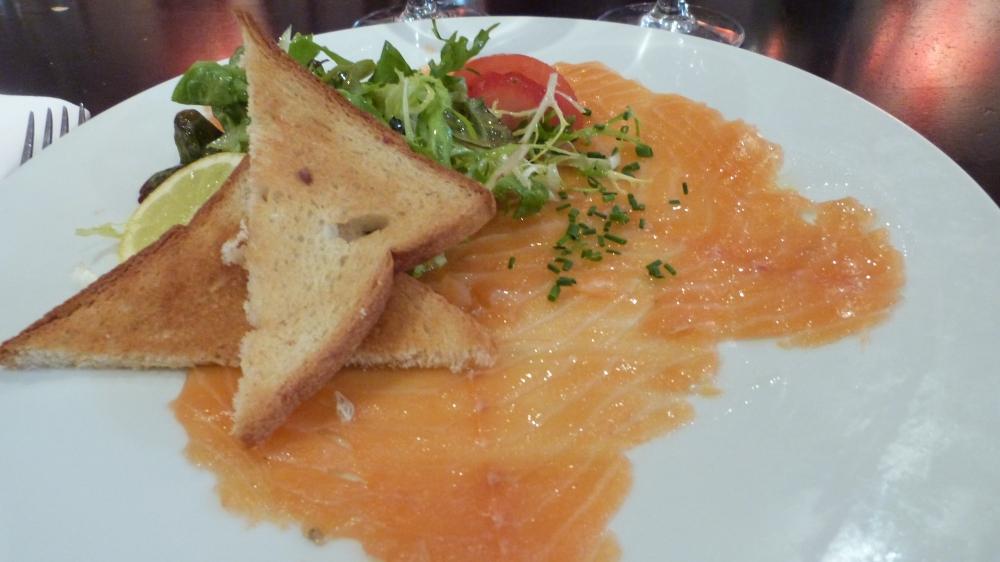 Saumon Fumé - Huile au Café Caron - Restaurant Misia