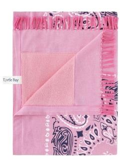 Paisley Bandana - Flamingo Pink