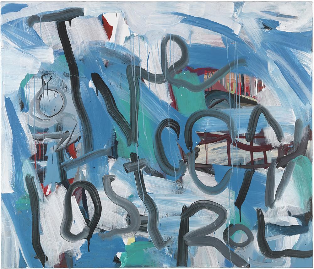 Control (Ian Curtis), 2008 Peinture acrylique sur toile 120 x 140 cm  Courtesy galerie Cortex Athletico, Bordeaux-Paris