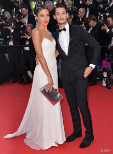 Australian actress Natasha Andrews and French actor Pierre Niney - 16/05
