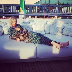 Flawless @ritaora in her #RobertoCavalli total look on the Cavalli Boat in #Cannes! #CavalliAtCannes #Cannes2014