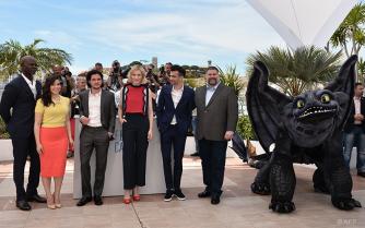 Djimon Hounsou, America Ferrera, Kit Harington, Cate Blanchett, Jay Baruchel and Dean Deblois - 16/05   HOW TO TRAIN YOUR DRAGON 2