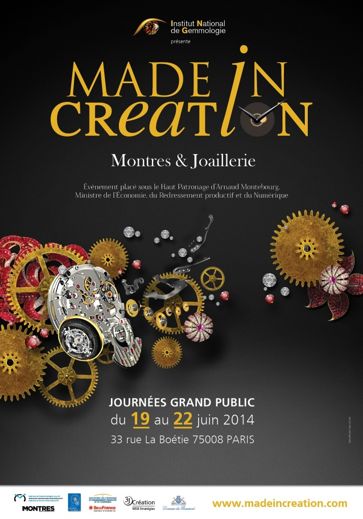 Affiche Made in Creation - journées grand public -  19-22.06.2014