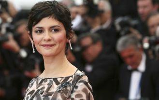 """Cannes 2014 - La montée des marches de """"Grace de Monaco"""" Audrey Tautou. Photo : AFP"""