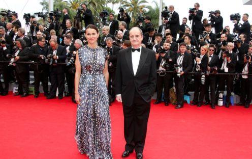 """Cannes 2014 - La montée des marches de """"Grace de Monaco"""" Aurélie Filippetti et Pierre Lescure. Photo : AFP"""