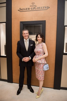 Daniel Riedo CEO Jaeger-LeCoultre and Jaeger-LeCoultre Friend of the Brand Carice van Houten ©Francois Durand Getty Images