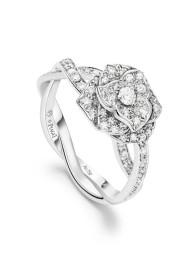 Collection Piaget Rose Bague en or gris 18 carats serti de 71 diamants taille brillant (env. 0.50 ct). G34UR800