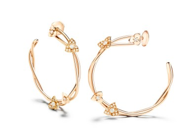 Collection Piaget Rose Boucles d'oreilles en or rose 18 carats serties de 44 diamants taille brillant (env. 0.46 ct). G38U0059