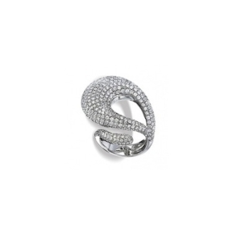 Bague Boucle or gris 18 carats 3,6 carats de diamants 8 200,00 €