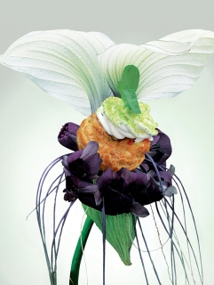 Chou «vert pré» au Mascarpone et Caponata de légume (Produit Réception & Boutique)