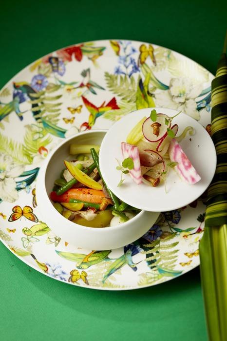 Les légumes crus, cuits, grillés et marinés, cuisinés aux herbes (Produits Réception)