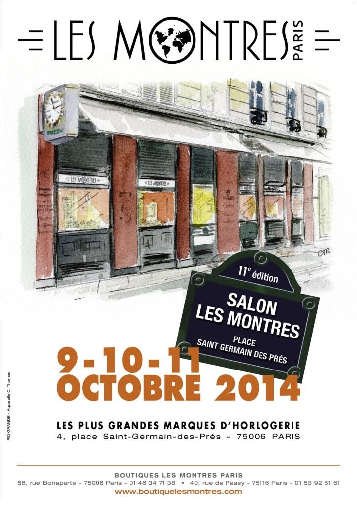 Affiche Salon les Montres 2014